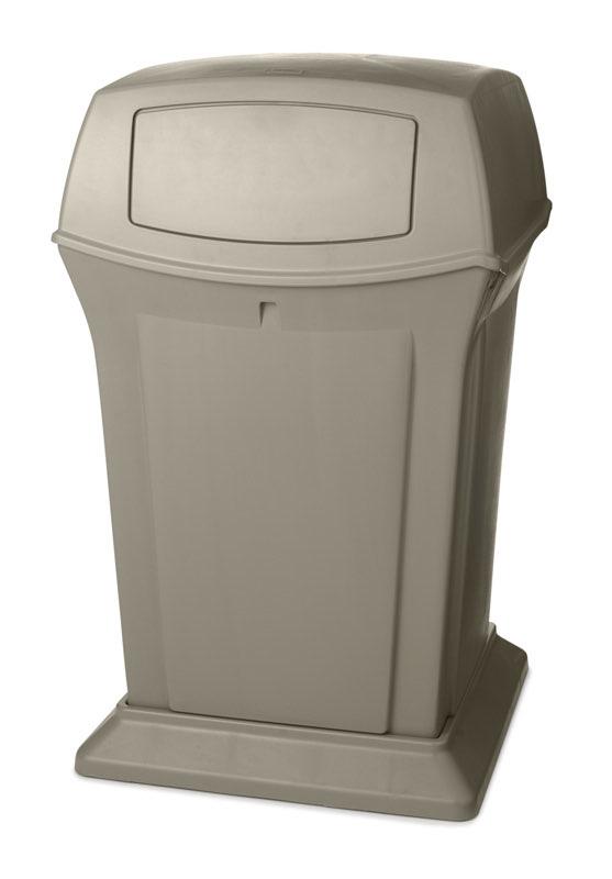 Vierkante  container van hoogwaardig kunststof