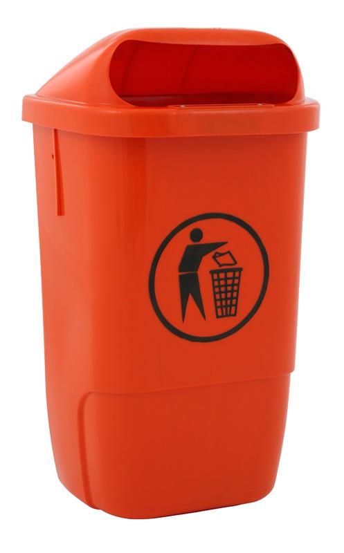 Afvalbak van kunststof 50 liter.